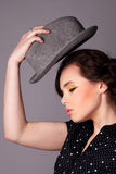 Young Woman with a Hat Stock Photography