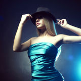 Young woman in hat Stock Photography
