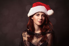 Young woman in hat Stock Photo