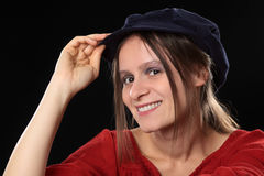 Young Woman with Hat Royalty Free Stock Images