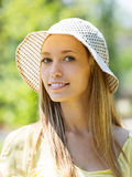 Young woman in hat Royalty Free Stock Images