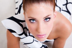 Young Woman in Haute Couture Attire Stock Photography