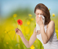 Young woman having allergy Royalty Free Stock Photography
