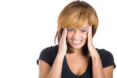 Young woman having a really bad headache Royalty Free Stock Images