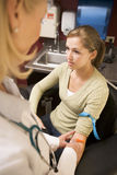 Young Woman Having Blood Test Done Royalty Free Stock Photos