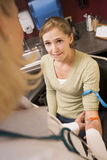 Young Woman Having Blood Test Done Stock Image