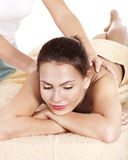 Young woman having classical massage. Royalty Free Stock Image