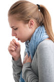 Young woman having a cold stock image