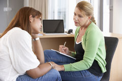 Young Woman Having Counselling Session Stock Images