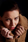 Young woman is having depression. Stock Photography