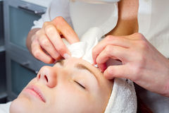 Woman at beauty salon Stock Photography