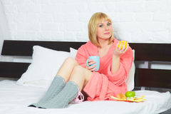 Young woman having flu Stock Photo