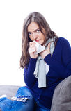 Young woman having flu Royalty Free Stock Photos