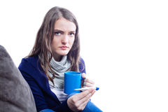 Young woman having flu Royalty Free Stock Photo