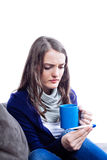 Young woman having flu Stock Photo