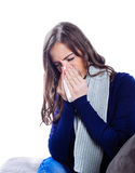 Young woman having flu Stock Photography