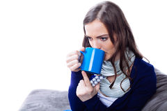 Young woman having flu Royalty Free Stock Images