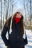Young woman, winter portrait Stock Images