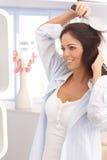 Young woman having hairdo Royalty Free Stock Photos