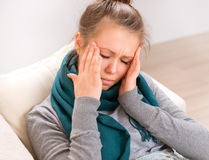 Young Woman having Headache Royalty Free Stock Images