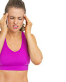 Young woman having headache Stock Photos