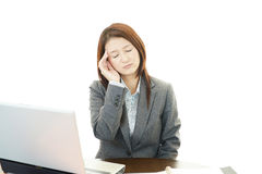 Young woman having a headache Stock Photography