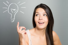 Young woman having an idea Stock Images