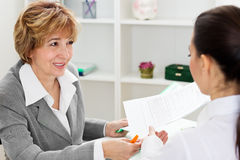 Young woman having a job interview Stock Images