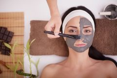 Young woman having mask procedure Royalty Free Stock Image