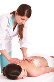 Young woman having  massage. Stock Image