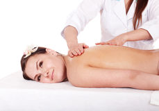 Young woman having  massage. Stock Images