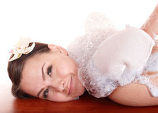 Young woman having  massage in hamam. Stock Photography