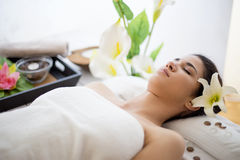 Young woman having a massage Royalty Free Stock Image