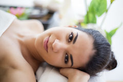 Young woman having a massage Stock Image