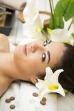 Young woman having a massage Stock Photos