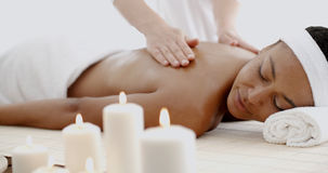 Young Woman Having A Massage In A Spa Stock Photography
