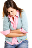 Young woman having stomach ache Stock Image