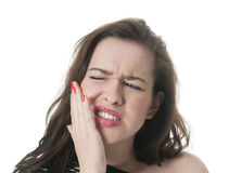 Young woman having toothache Royalty Free Stock Photo