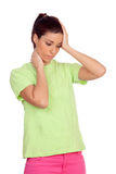 Young woman with head ache Royalty Free Stock Photos