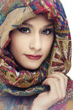 Young woman with head scarf Royalty Free Stock Images