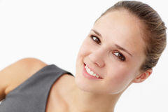 Young woman head and shoulders Royalty Free Stock Image