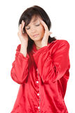 Young woman with headache Stock Photography
