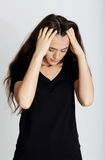 Young woman with headache. Stock Photo