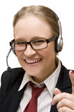 Young woman with headphone Royalty Free Stock Photo