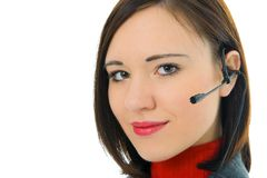 Young woman with headphone Royalty Free Stock Image