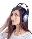 Young woman in headphones Stock Photo