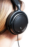 Young woman with headphones Royalty Free Stock Photography