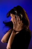 Young woman in headphones Royalty Free Stock Image