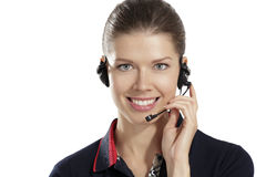 Young  woman with headphones Stock Photo