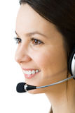 Young woman with headphones Royalty Free Stock Image